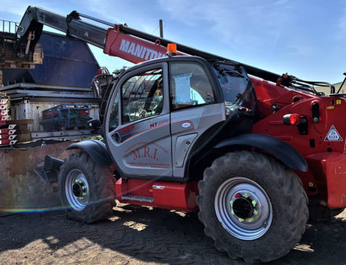 Just delivered..!  A Manitou MT 1135 telehandler forklift truck.