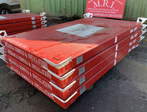 New crane mats have just arrived
